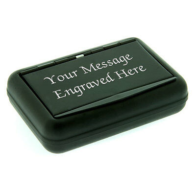 Personalised Black Tobacco Tin MESSAGE ENGRAVED FREE