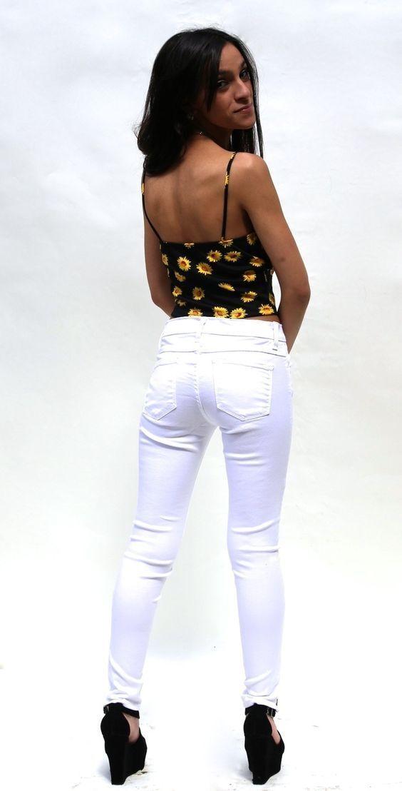 Flying Monkey Jeans Moto Skinny Ankle Zipper L7600 Weiß NWT sz 29 NEW
