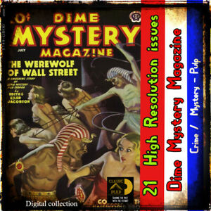 Dime Mystery Magazine - 21 issues - Pulp Mystery, Suspense, crime, detective