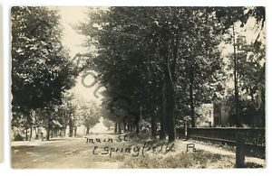 RPPC-Main-Street-View-EAST-SPRINGFIELD-PA-Erie-County-Real-Photo-Postcard