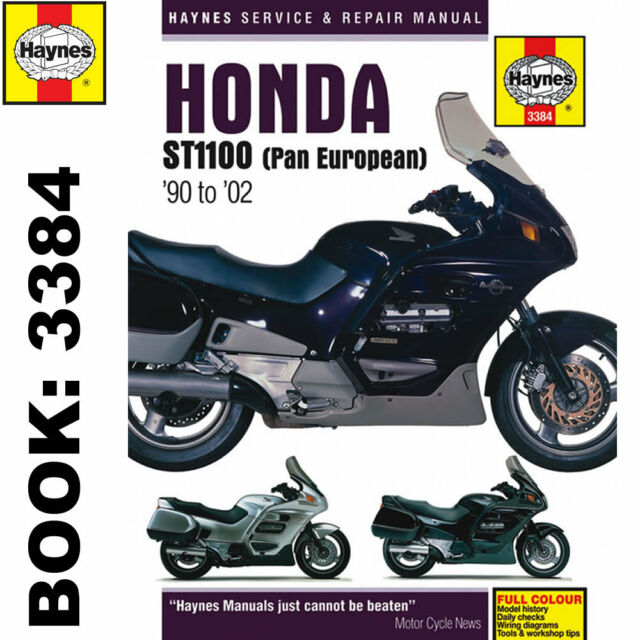 honda st1100 pan european update haynes repair manual 3384 ebay rh ebay co uk honda st 1100 service manual honda st1100 pan european service manual