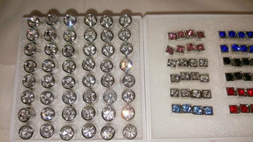 JOBLOT 48 pares 4mm/&7mm Aretes Diamante Hipoalergénica-nuevos al por mayor 4