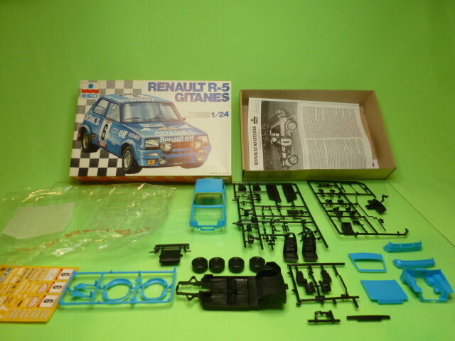 ESCI KIT (unbuilt) 3016 RENAULT R5 GITANES - blu 1 24 - VERY GOOD IN BOX