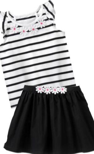Gymboree Daisy Park 6 7 8 10 Black Striped Daisy Top Skirt Set Summer 15