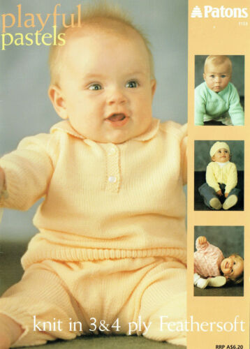 PATONS 1153 ADORABLE DELICATE BABY & TODDLER KNITS in 3 & 4ply YARN