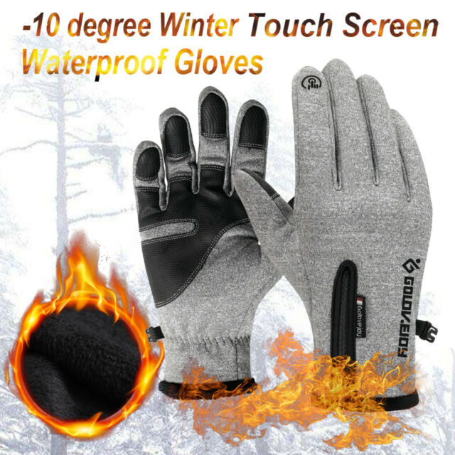 10 Degree Winter Gloves Thermal Skiing Glove Touch Screen Waterproof Windproof