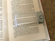 LightWedge Mini 1.5X - Silver, Pocket Magnifier, Lighted Magnifier, Book Light