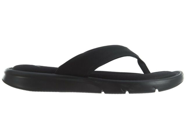 397e361953b2 Nike Ultra Comfort Thong Womens 882697-001 Black White Flip Flop ...