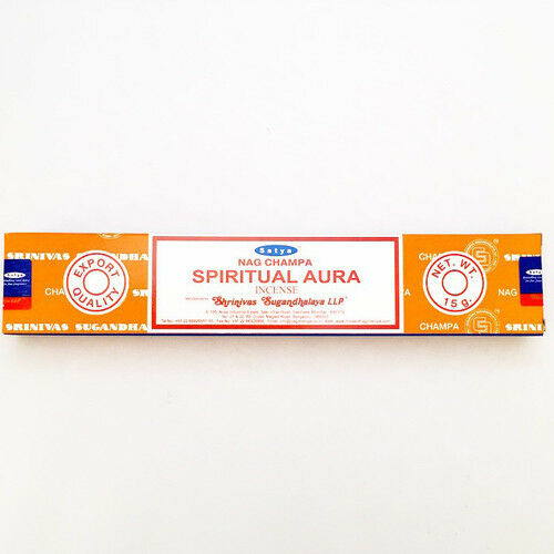 SATYA INCENSE STICKS PACK OF 2 EACH PACK CONTAINS 15 G SPIRITUAL AURA