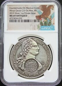 Mexico-2019-8-Reales-999-Silver-Medal-Minas-Gerais-Counterstamp-NGC-MS69