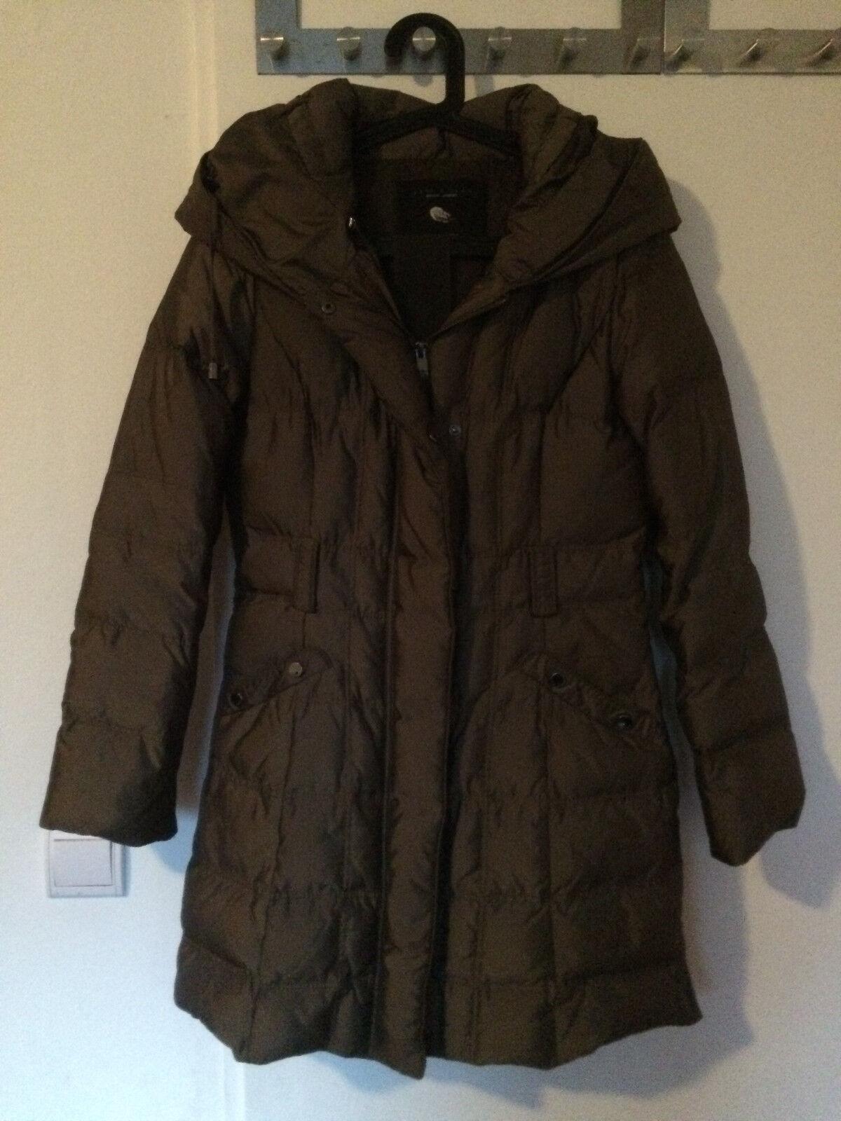 Billig Braun Jacke Zara Daunenjacke S Khaki Winterjacke j4LA5R