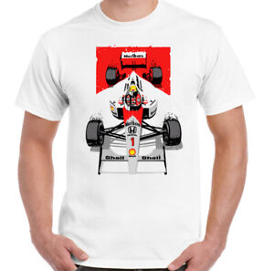AYRTON-SENNA-T-SHIRT-F1-Mens-Tee-Top-Unisex-Motorsport-Brazil-Mclaren-Car