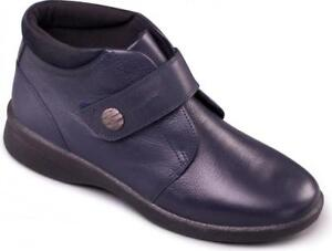 Ladies Padders Navy Leather Rejoice Fit Super Dual Stivali Wide Eeee Eee Extra fOR4Oq5