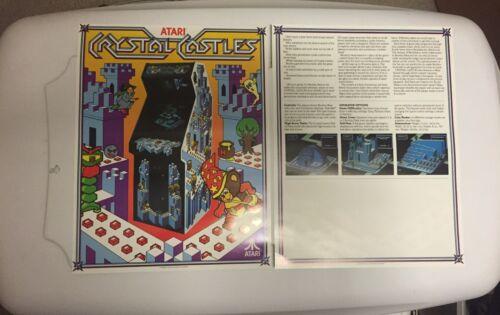 2 1983 ATARI  CRYSTAL CASTLE FACTORY ORIGINAL VIDEO FLYERS MINT