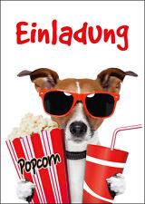 """""""KINO-EINLADUNGEN"""": 6 lustige Einladungskarten ins Kino zum Kindergeburtstag"""