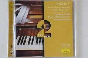 MOZART-Friedrich-GULDA-Claudio-Abbado-Piano-Concertos-20-21-25-27-2cd-DG-cd57