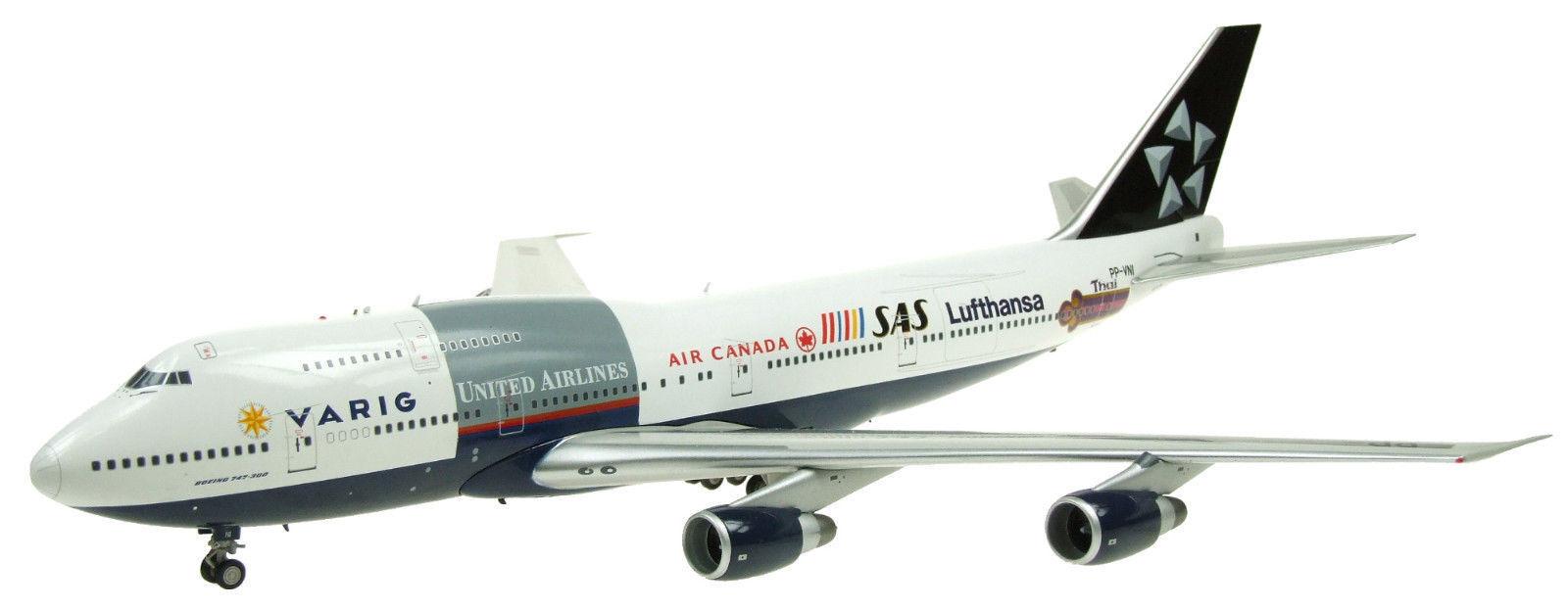 Inflight 200 IF7431216 1 200 Varig Star Alliance Boeing 747-300 PP-VNI Inc Soporte