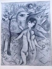 Marc Chagall offset lithograph Bible  paris maeght 1960 original  2 sided 102