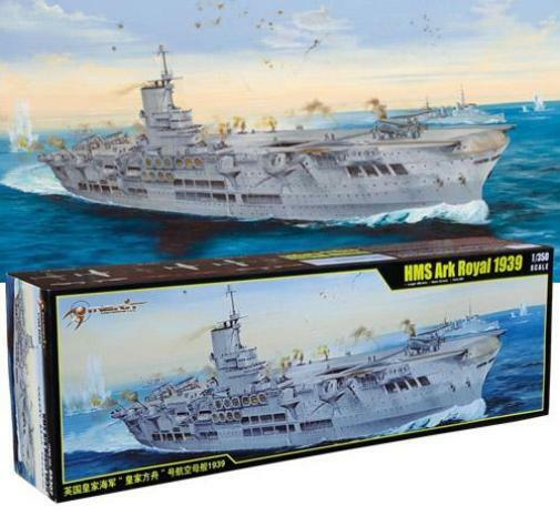 Merit 65307 - HMS Ark Royal 1939 1 350 Scale Megga Plastic Kit - UK Courier Post