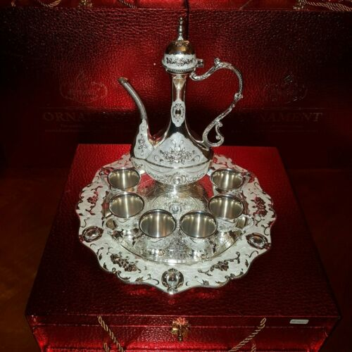 Tea-set-Beverage-Service expensive gifts for hom made of nickel silver  Melchior