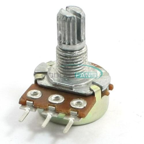 5PCS 50K Ohm B50K Knurled Shaft Linear Rotary Taper Potentiometer 3 Terminal