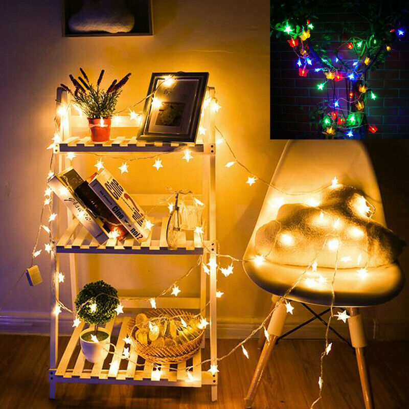 Details about LED Star Lights Battery Garden Fairy String Micro Wedding  Party Bedroom Decor