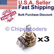 3 Pcs Alpha Rv16 Series 100k Ohm Rotary Potentiometer 16mm B100k 150 Vac 125 Mw
