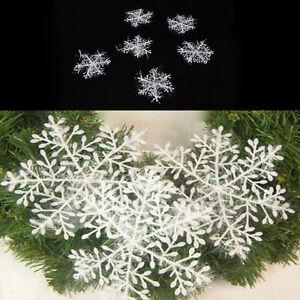White-Snowflake-Ornaments-Christmas-Xmas-Tree-Decorations-X-6-12-30-CRIT