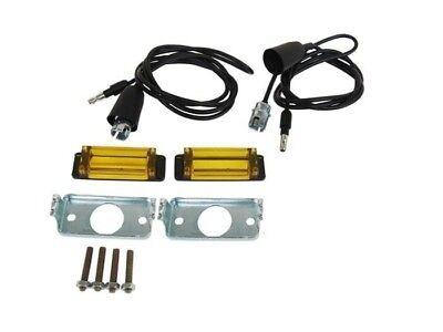 1968 69 Dodge MOPAR Charger Turn Signal Lights Hood Indicator Lens Kit w// Bulbs