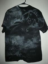 BATMAN Dark Knight DC COMICS Joke rBig print tee black t shirt adult