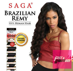 Saga 100% Human Hair Weave Brazilian Remy Yaky 12 Inch