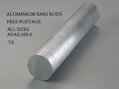 """ALUMINIUM RODS ALL SIZES AND LENGTHS ROUND BARS FREE POSTAGE 1/"""" 3//4/"""" 5//8/"""" 1//2/"""""""