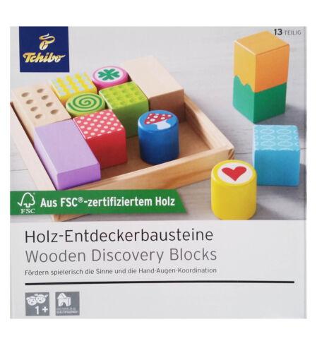 Bauklötze TCM Tchibo Holz Entdecker Bausteine Bauklötze für Hand Augen Koordination