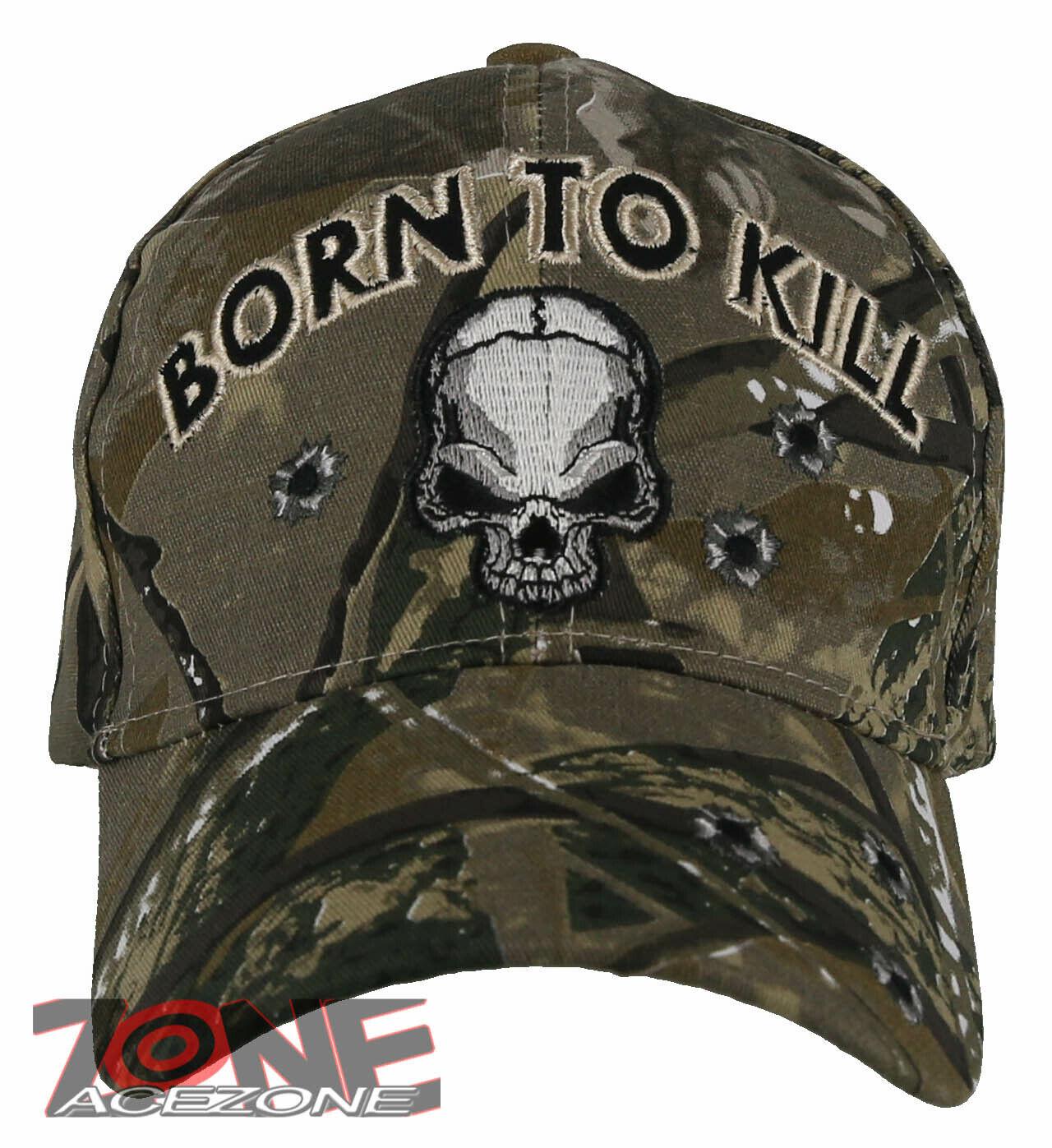 ! nuevo! nacido Para KILL cráneo Bola Gorra Sombrero Bosque Camuflaje