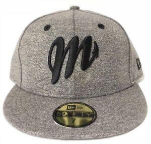 New Era Diablos Rojos del México 59Fifty Hat Grey Heather Black Mens ... ff0d652c5120