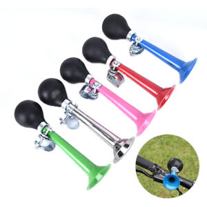 bicycle bell bugle air horn sound handlebar mount retro bell for road bike AL