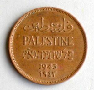 Israel-Palestine-British-Mandate-1-Mil-1943-Coin-XF