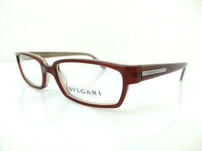 Bulgari Occhiale Da Vista Plastica 323 Bordeaux Rettangolare Rossa €230 Ovale Con Il Miglior Servizio