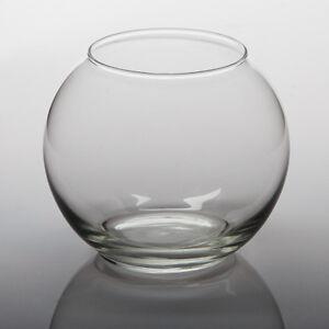 "Eastland Glass Bubble Bowl Vases 5.5"" Diameter Set of 6, Home & Event Decor"