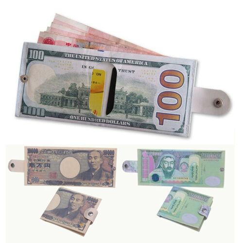 1PC Creative Various Country Banknote Shape Money Holder Clutch Coin Purse Gift