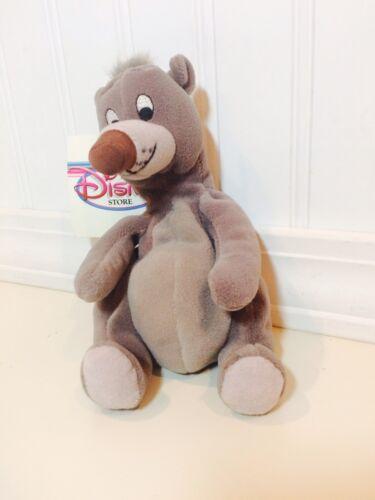 "The Disney Store Exclusive Baloo Jungle Book 8/"" Mini Bean Bag Plush NWT"