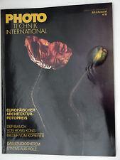 (PRL) PHOTO TECHNIK INTERNATIONAL 4/95 1995 MITTELFORMAT TECNICHE SPECIALIZZATE