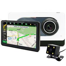 junsun 7 inch Car GPS Navigation DVR Dual Lens Camera 1080P Recorder Video FM WI