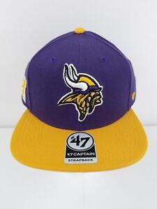 Minnesota Vikings 47 Brand Strapback Hat Super Shot Two Tone Captain ... 14fbad86e