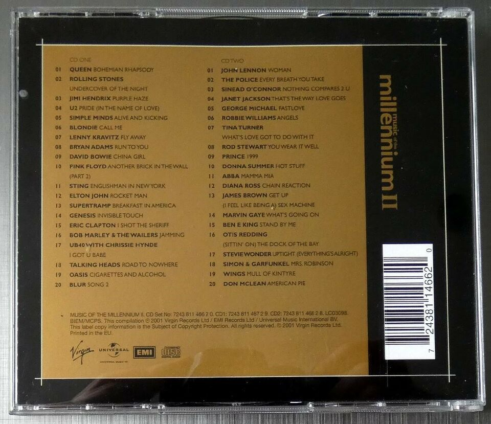 Opsamling: Music Of The Millennium II, andet