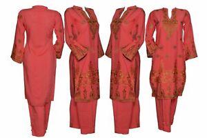 Indian-Pakistani-Shalwar-Kameez-Salwar-Saree-Suit-Dress-Wedding-Designer-Coral