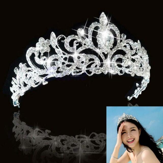 Wedding Bridal Bridesmaid Prom Party Crystal Rhinestone Tiara Crown Headpiece GG