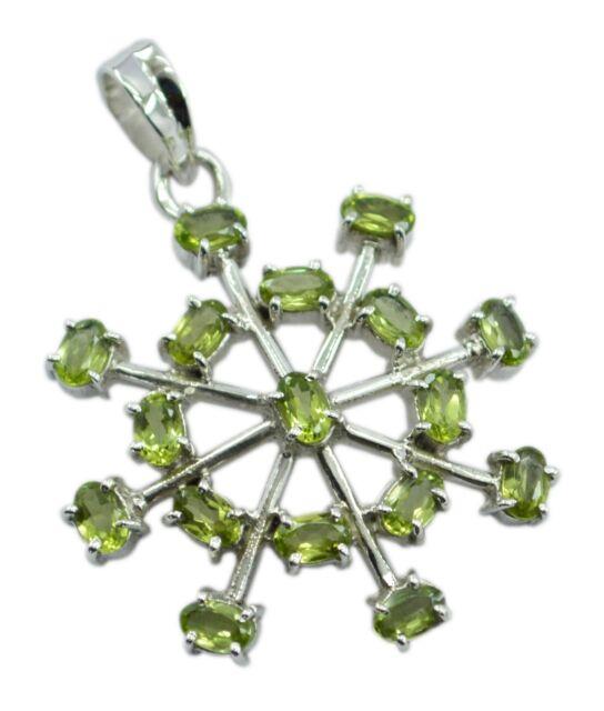 fascinating Peridot 925 Sterling Silver Green Pendant Natural gemstones US gift