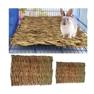 Small-Animal-Pet-Grass-Woven-Bed-Safe-Chew-Cage-Mat-Guinea-Pig-Rabbit-Hamster-DD