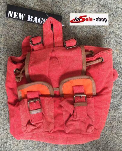 Damen Tasche Handtasche Umhängetasche Shoppen Rucksack orange